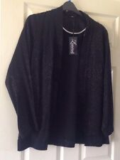 Yours Black print silky long sleeve jacket kimono size 16/18 BNWT RRP £35