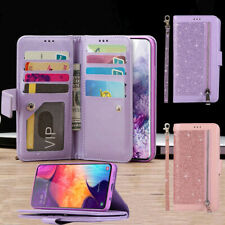 Zipper Leather Wallet Flip Purse Case For Samsung S20 S9 S8 S10 Plus Card Cover