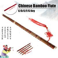 Traditional Chinese Musical Instrument Bamboo Flute C/D/E/F/G Dizi &Bag & Knot