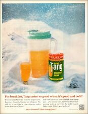 1961 vintage beverage AD Instant TANG Breakfast Drink , Cold in Snow 070419