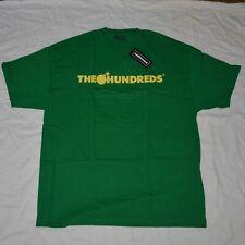 The Hundreds Striped Logo T Shirt Tee Adam Bomb Green Size XL