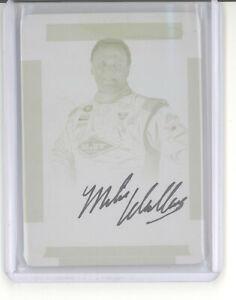 Mike Wallace 1/1 auto printing plate card 2017 Panini National Treasures NM