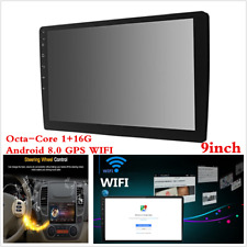 """Android 8.0 Double 2 Din 9"""" HD Octa-Core Car Stereo Radio GPS Wifi Mirror Link"""