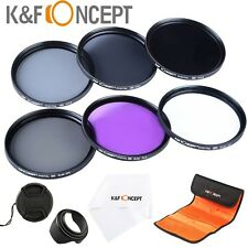 62mm Super Slim Lens Filter Kit UV CPL FLD ND 2 4 8 For Sigma Tamron Sony Camera