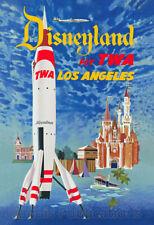 1955 TWA Disneyland Moonliner - Advertising Poster