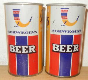 2 RINGNES NORWEGIAN Beer Straight Steel Beer cans from NORWAY (35cl) Empty !
