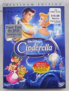 Disney Cinderella Platinum Edition DVD 2 Disc Special Edition Buena Vista Sealed