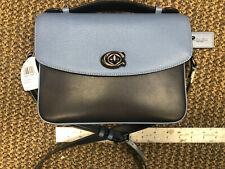🌺🌹COACH Cassie 73768 Crossbody Leather Snake-Print Blue Handbag Washed Chambra