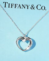 Tiffany & Co Sterling Silver Paloma Picasso Medium Tenderness Heart Necklace