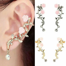 Crystal Cuff Costume Earrings