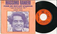"""EUROVISION 1971 45 TOURS 7"""" FRANCE MASSIMO RANIERI POUR UN INSTANT D'AMOUR"""