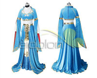 The Legend of Zelda: Breath of the Wild Princess Zelda Blue Cosplay Costume New