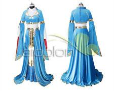 The Legend of Zelda: Breath of the Wild Princess Zelda Blue Cosplay Costume New