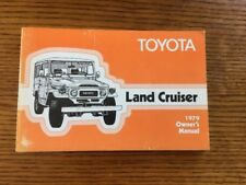 1979 Toyota Land Cruiser Fj40 Owners Manual Original Rare Near Mint