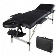 Details about 3 Fold Aluminum Portable Massage Table Facial SPA Bed with Free