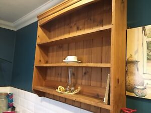 Lovely Traditional County Cottage Style Kitchen Shelf Wooden shelving Wall Unit