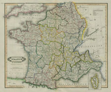 First Empire France in departments. Belgium Italy Germany NL. LIZARS 1842 map