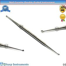 Chiropody Beauty Nail Curette Double Ended Nail Care Cleaning Podiatry Hand Tool