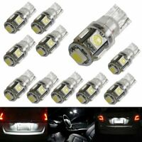 10 Pieces 5-SMD 168 194 2825 LED Bulbs For Car Interior, Parking, License Lights