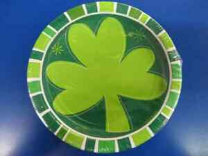 """Spring Clover St. Patrick's Day Irish Holiday Party 7"""" Paper Dessert Plates"""