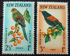 New Zealand 1962 Health Birds Set Of Two Stamps MNH