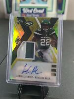 2020 NFL PHOENIX LAMICAL PERINE RPA ROOKIE PATCH AUTO RC 6/75 NY JETS