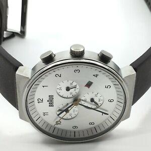 Braun Classic Chronograph Quartz watch, Silver, 40mm. BN0035SLBRG