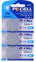 ☀️☀️☀️☀️☀️ 3 x CR2477 3V Lithium Batterie 900 mAh ( 1 Card a 3 Batterien )PKCELL