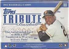 2012 Topps Tribute Baseball Sealed Box Of Six Packs 3 Autos & 3 Memorabilia