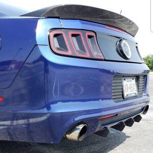 2013 2014 mustang rear diffuser fins