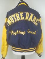 Vintage Notre Dame Fighting Irish Leather Wool Football Jacket Men's Size M
