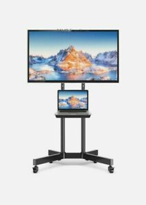 Universal Mobile TV Stand on Wheels for Office Model: RV1300P by Mount Factory