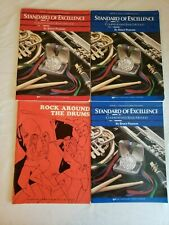 3 Standard of Excellence Books Drums Timpani Aux Percussion Rothman RocK Around