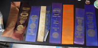 Lot of 8 Vintage 1950s - 62 AKC Boxer Club Dog Award Winner Ribbons