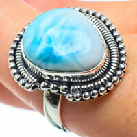 Larimar 925 Sterling Silver Ring Size 8.5 Ana Co Jewelry R29642F