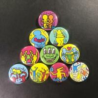 "Keith Haring 1"" Button Pin (10 piece) set New York Street Artist Pop Art"