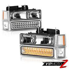 1994 1995 1996 1997 1998 Chevy Tahoe Suburban [BRIGHTEST] LED Signal Head Lights