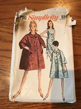 1966 Simplicity Shift Dress and Swing Coat Pattern 6790 Size 18 Complete Uncut