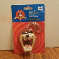 Vintage Looney Tunes Taz Tasmanian Devil Keychain Clock 1999 NOS New