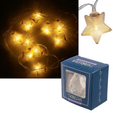 10 LED Metallic Stars Fairy Novelty Lights Indoor String Party Decor LED39