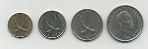 Equatorial Guinea Complet Set 1, 5, 25 & 50 Pesetas 1969 KM 1, 2, 3, 4 VF+