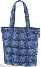 KEITH HARING x UNIQLO 'Dancing Dogs' Padded Tote Bag LARGE Navy Blue SPRZ NY NWT