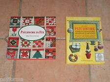 Lot de 2 Livres de couture DMC PATCHWORK en fête & Patchwork  techniques idées..