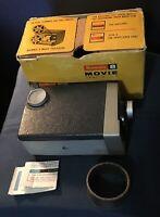 Vintage 1960 Kodak Brownie 8 8mm Movie Camera F 2.7 Wind Up Handle W/Box Parts
