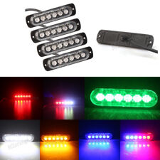 4X 6LED Amber/White/Red/Green Emergency Beacon Warning Hazard Flash Strobe Light