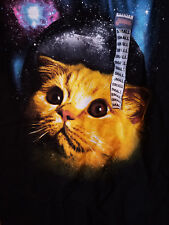 Spencer's Galaxy Wide Eye Cat Face Shirt Size Small, New With Tags