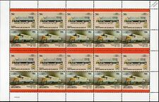 1960 Louisville & Nashville Railroad (L&N) GE Class U25B Train 20-Stamp Sheet