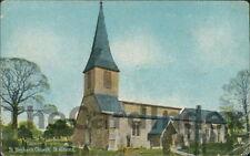 ST. ALBANS St. Stephen's Church Postcard nr Hemel Hempstead HERTFORDSHIRE