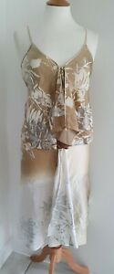 HUGO BOSS - GOLD/CREAM TOP AND SKIRT - UK8/10 - NEW WITH TAGS