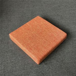 Cotton Linen Cushion Office Chair Seat Sofa Pads Cushion Plain Solid Color Mat